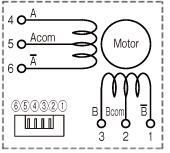 WP1000/1100ステッピングモータ 結線図 GA