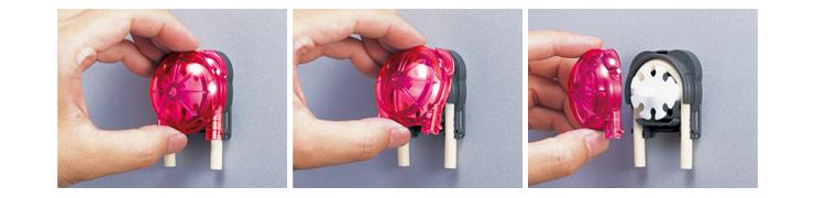 WPX1(チューブポンプ)製品紹介 工具を使わずメンテナンスできるハンディマウント機構