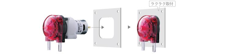 WPX1(チューブポンプ)製品紹介 イージーセット機構