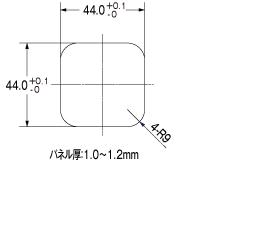 WPX1(チューブポンプ)パネル加工寸法図