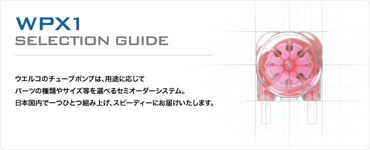 WPX1(チューブポンプ)セレクトガイド