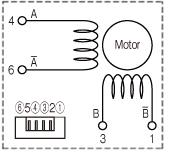 WP1000/1100ステッピングモータ 結線図 FB/BA